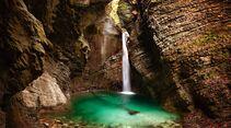 Kazjak-Wasserfall in Slowenien