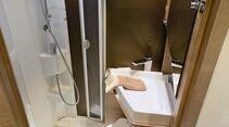 Klappwaschbecken im Adria Compact SLS