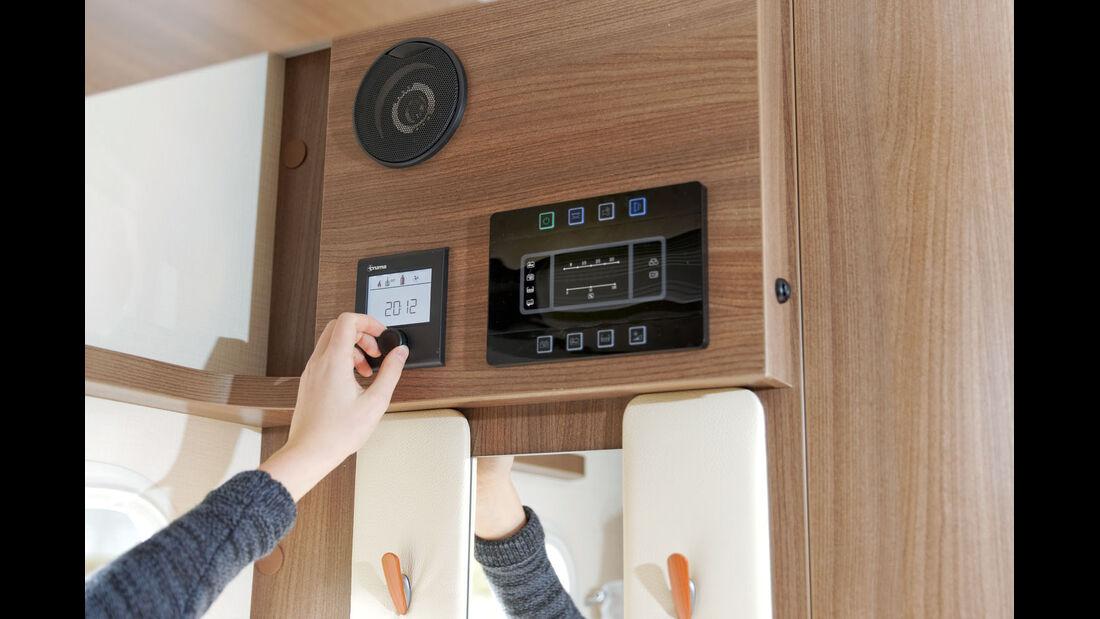 Kontrollbord und Heizungsbedienteil im Smartphone-Design beim Chausson