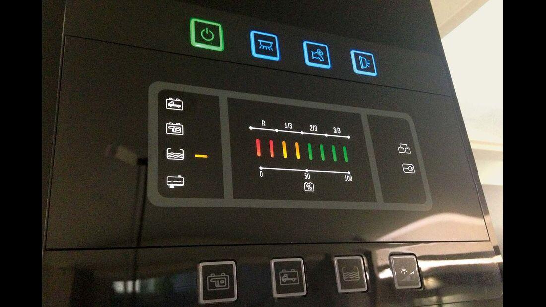 Kontrollpanel zeigt Abwasserstand nicht konkret an beim Chausson Welcome 620