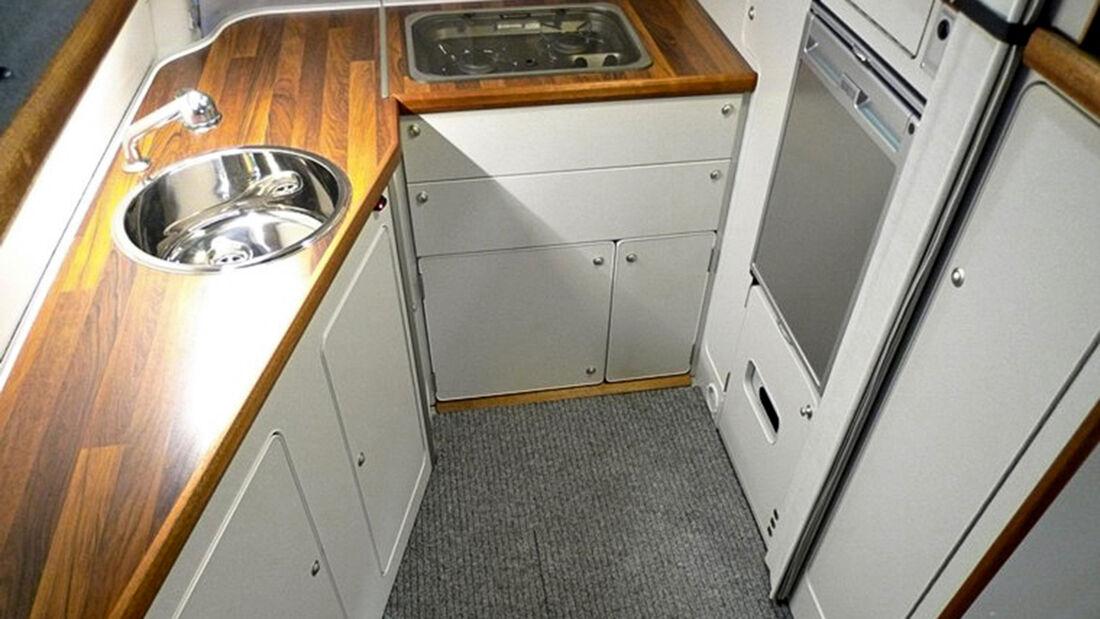 Küche im Campmobil Schwerin