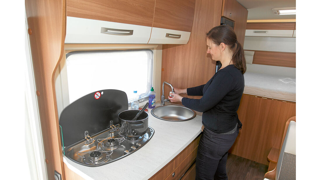 Küche im Eura Mobil