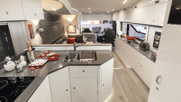 Küche im Wohnmobil