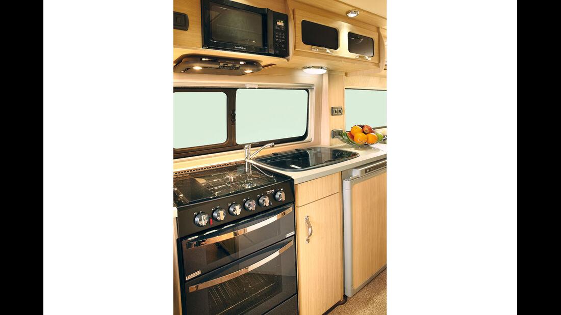 Küche mit Mikrowelle und Bacon-Grillfach im Warwick