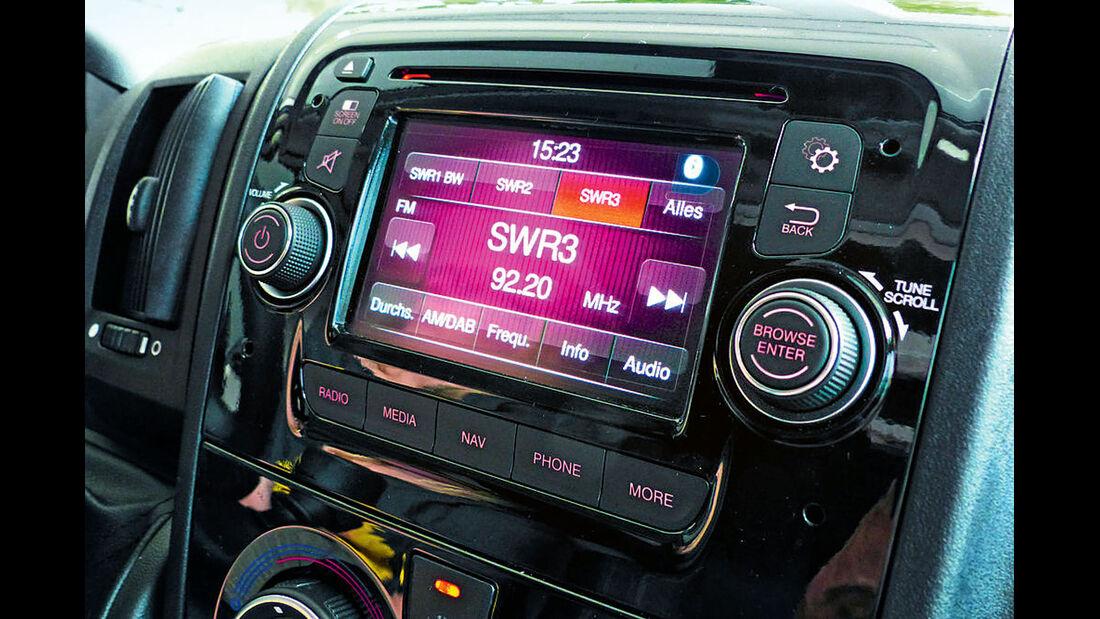 Kuppelantennen ermoeglichen den Radioempfang waehrend der Fahrt,...