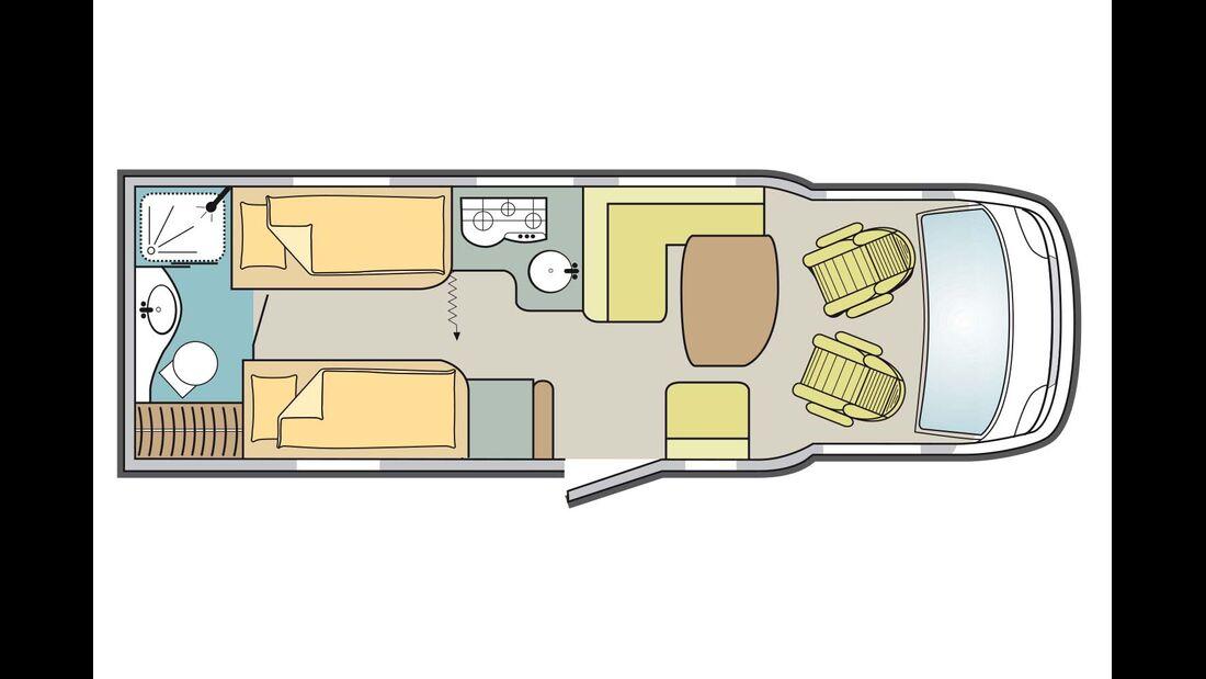 LMC Cruiser Premium T 711 Grundriss
