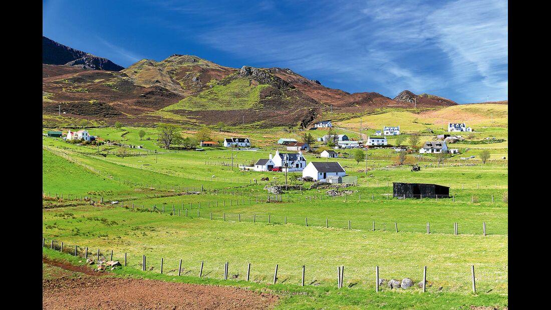 Landschaft an der Nordwestküste in Schottland