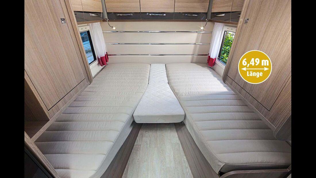 Leichter Zustieg dank tief angeordneter Einzelbetten beim Challenger 277