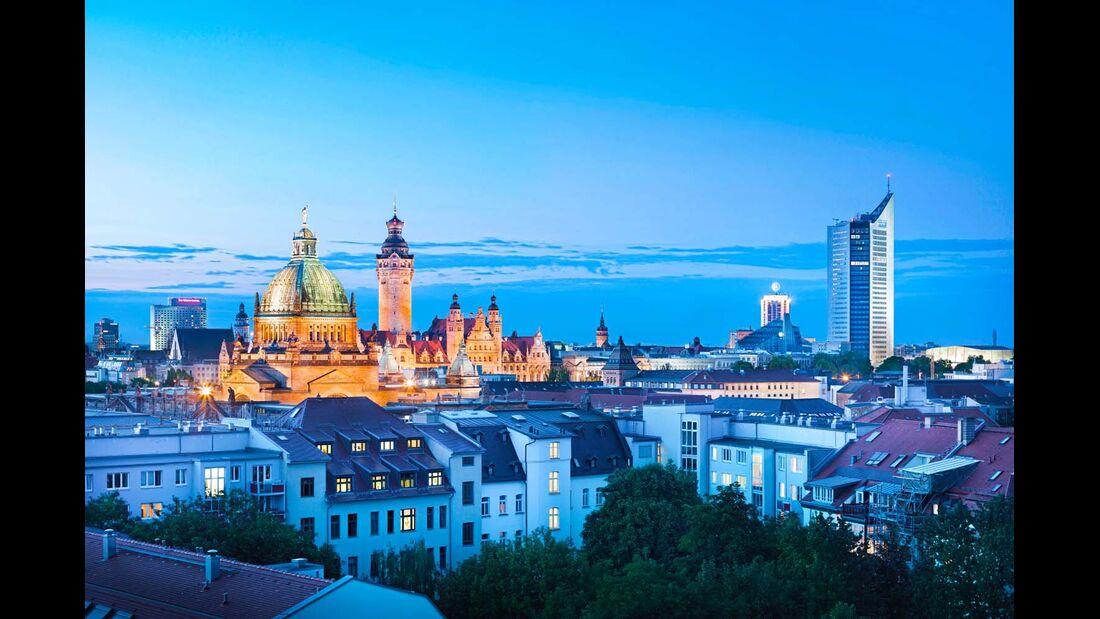 Leipziger Stadtsilhouette