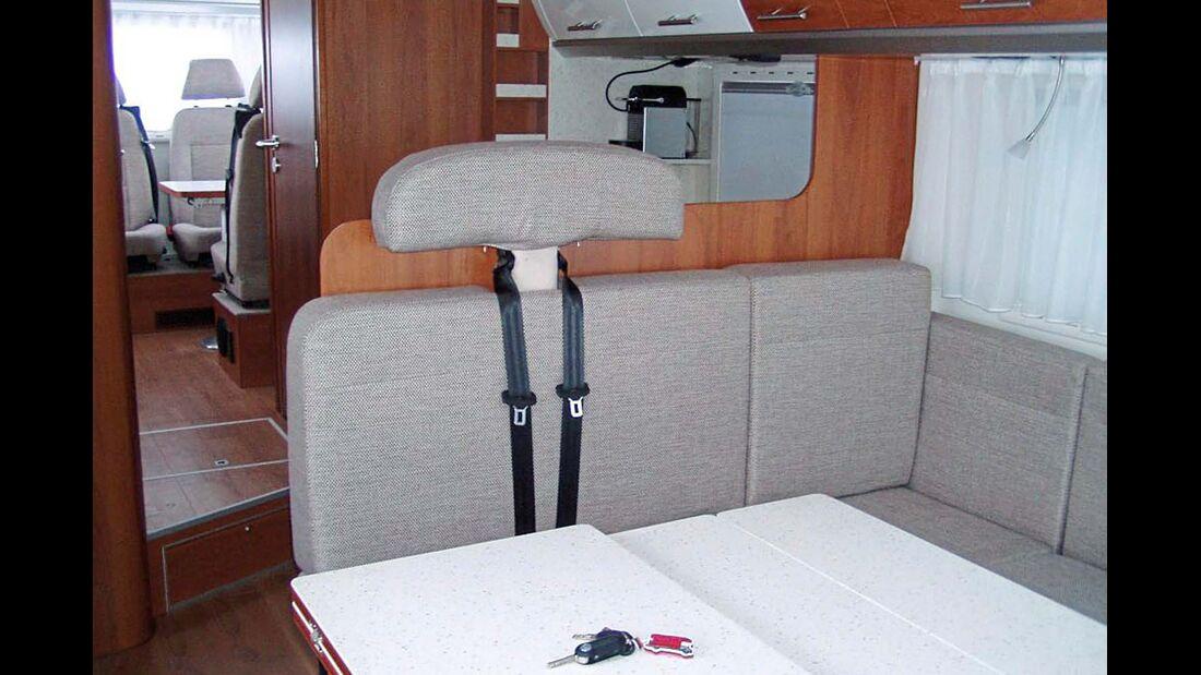 Lesermobil Trainer-Bus Seminarraum Slid-Out-Sitzgruppe