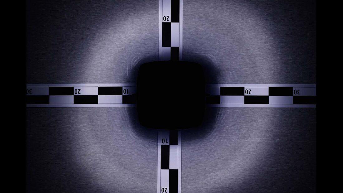 Lichtverteilung Carbest Solarlampe
