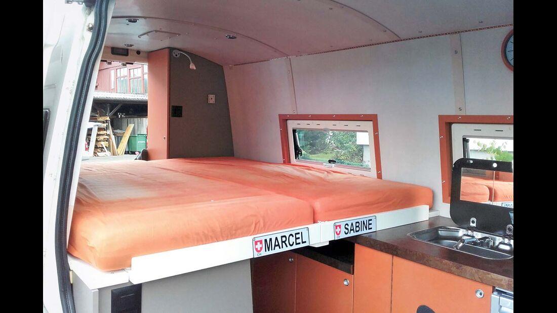 Liegefläche im Campingmobil
