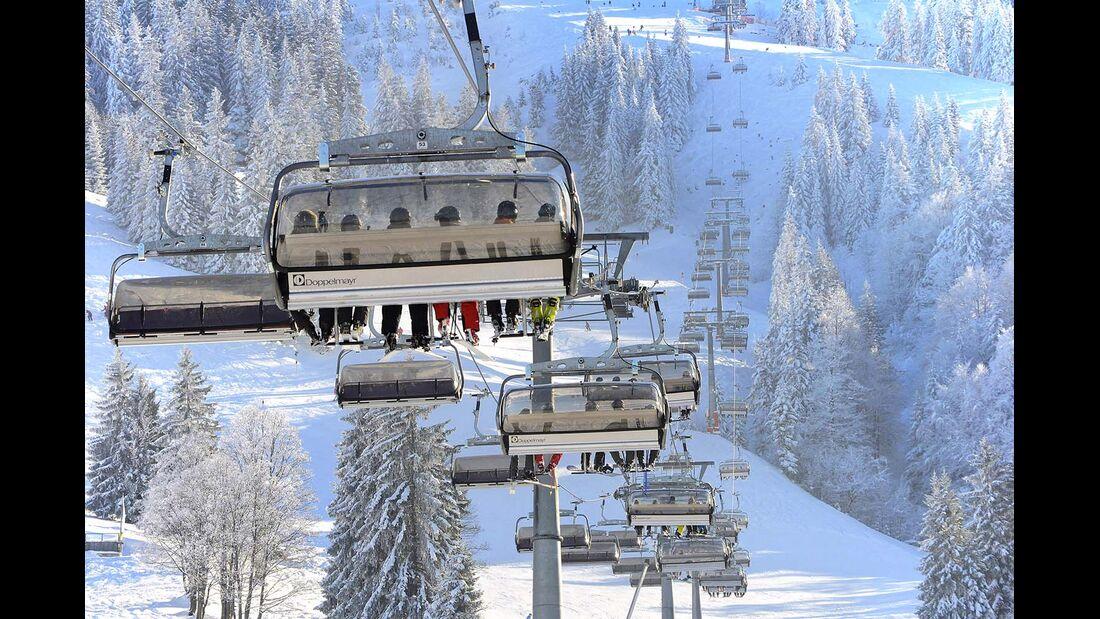 Lift in Bad Hindelang in den Allgäuer Alpen