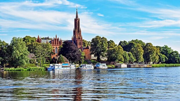 Malchow Monastery on Lake Malchow in Mecklenburg-Vorpommern (Germany)