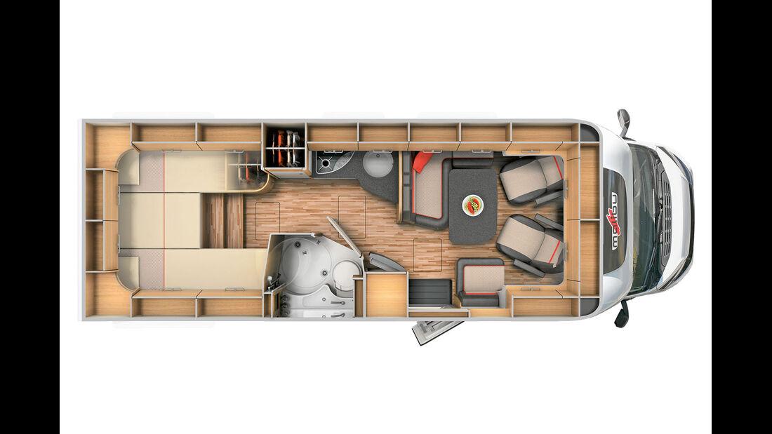 Malibu T 460 Grundriss
