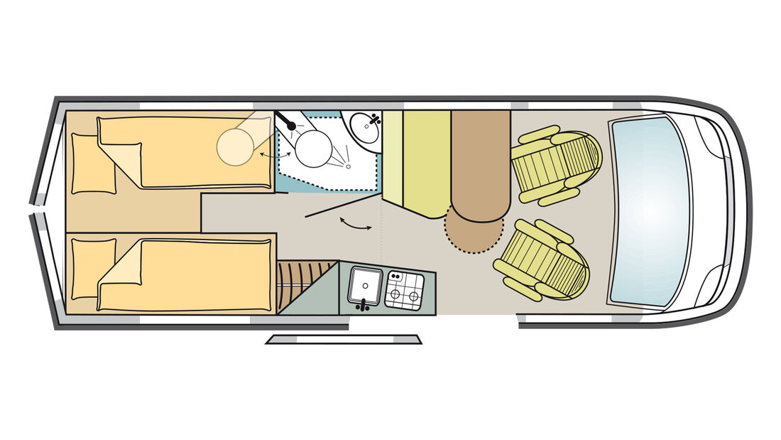 Malibu Van 640 LE RB (2021) im Grundriss