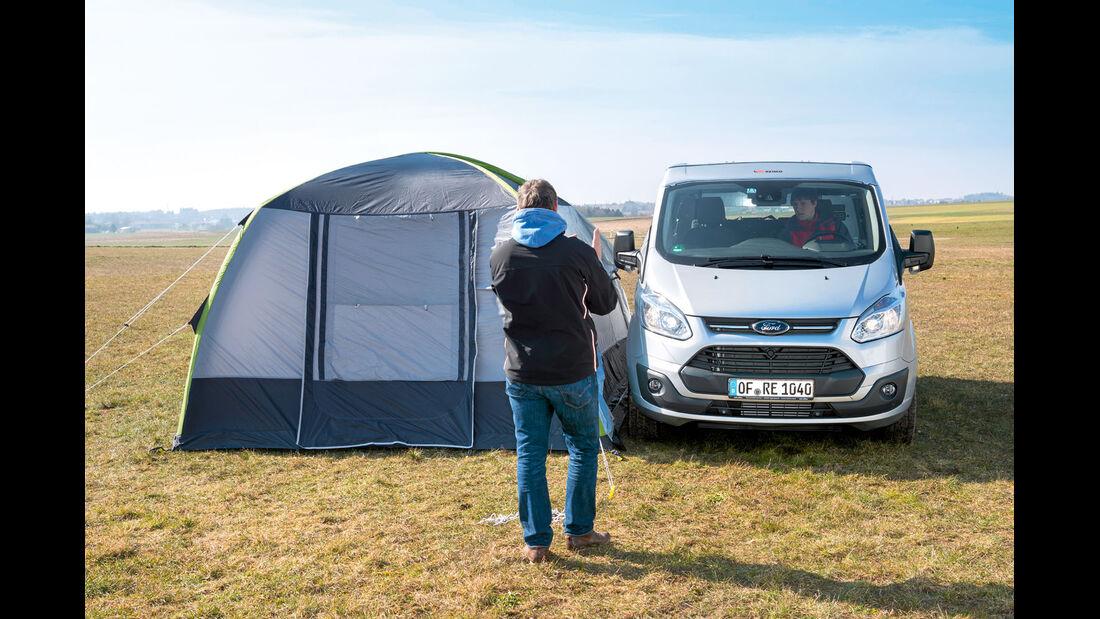 Man kann kurz wegfahren und das Zelt stehen lassen.