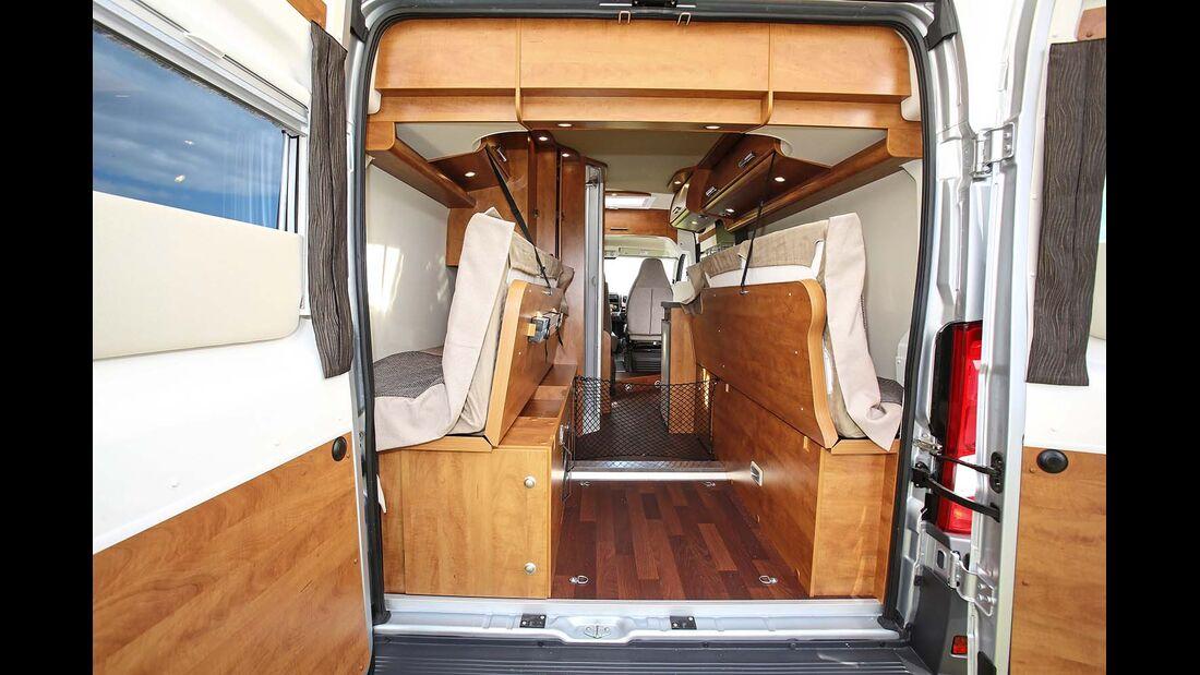 Matratze und Unterbau längsgeteilt beim Malibu Van 600 LE