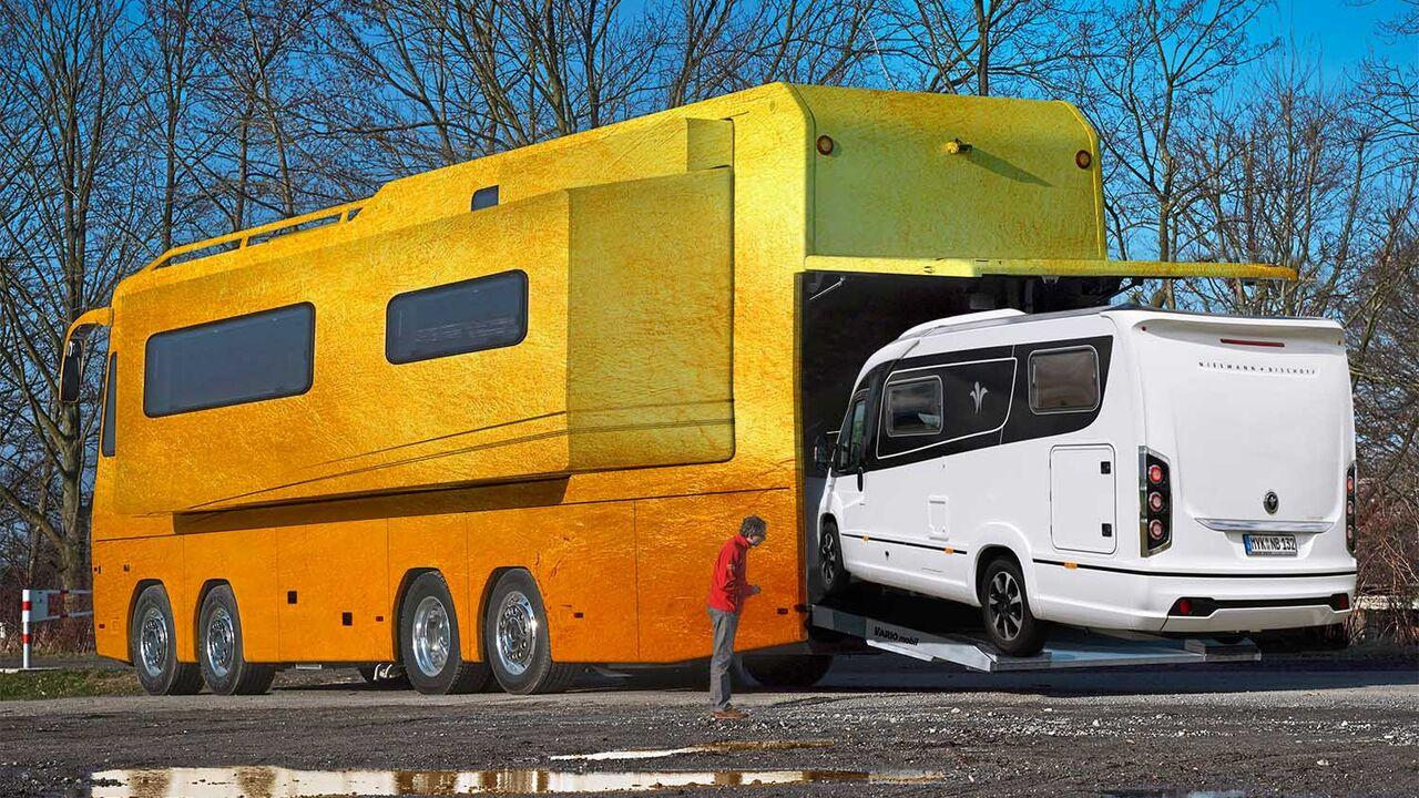 Wohnmobil im Wohnmobil: Der luxuriöse Matrjoschka-Luxusliner