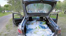 Mazda 6 Kroatien Schlafplatz im Kofferraum