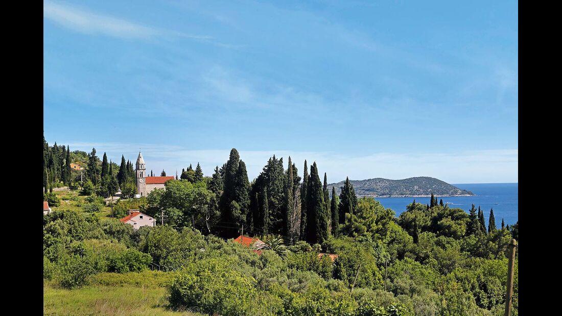 Meeresblick zwischen Dubrovnik und der Halbinsel Pelješac
