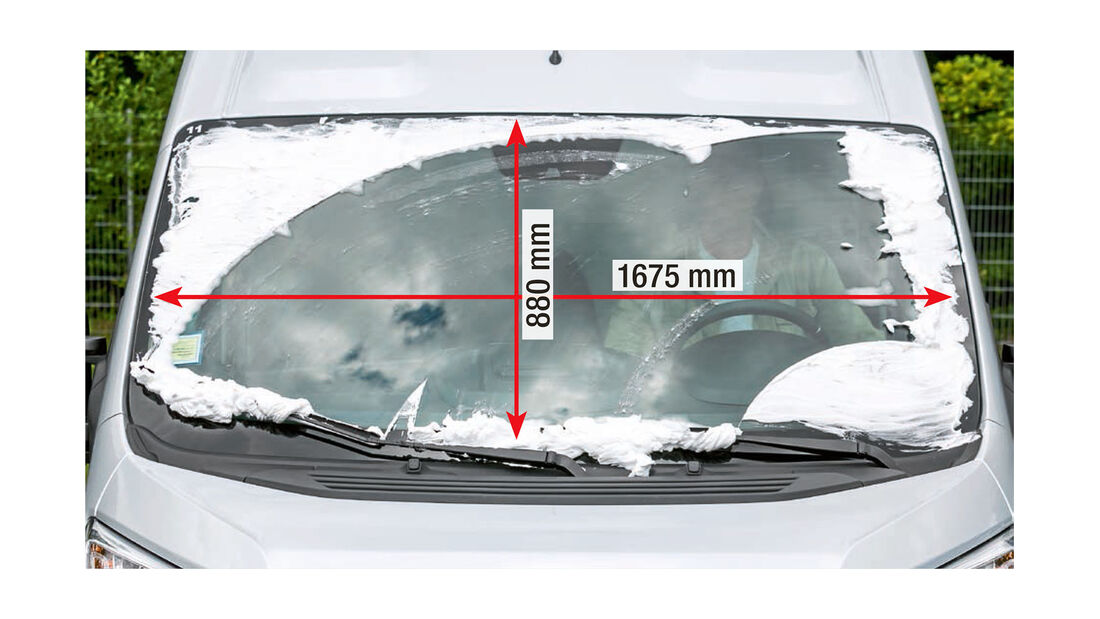 Megatest: Sichtverhältnisse, Fiat-Frontscheibe