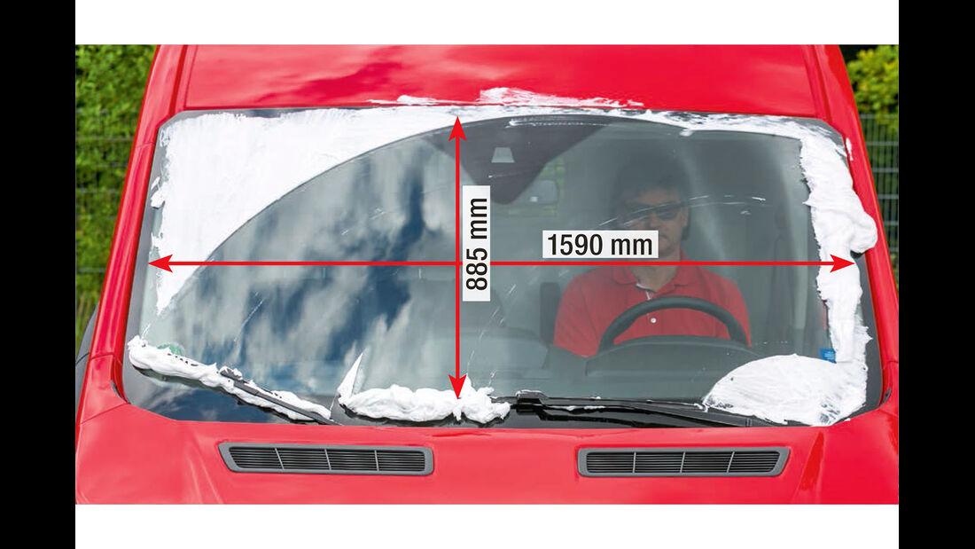 Megatest: Sichtverhältnisse, Ford-Frontscheibe