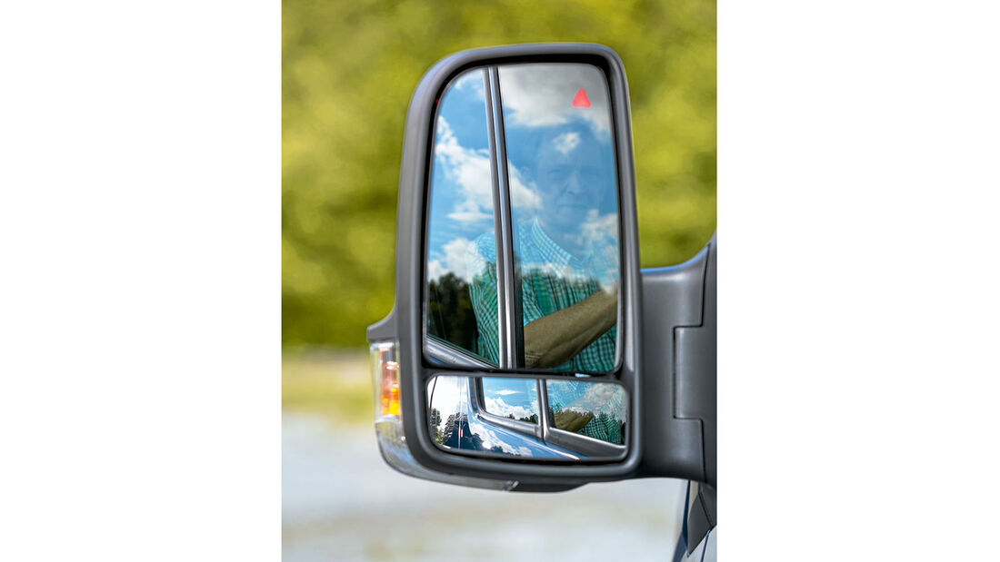 Megatest: Sichtverhältnisse,Mercedes-Aussenspiegel