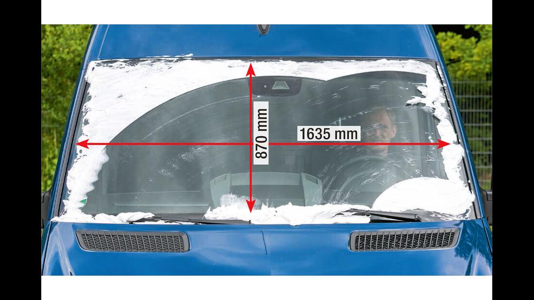 Megatest: Sichtverhältnisse, Mercedes-Frontscheibe