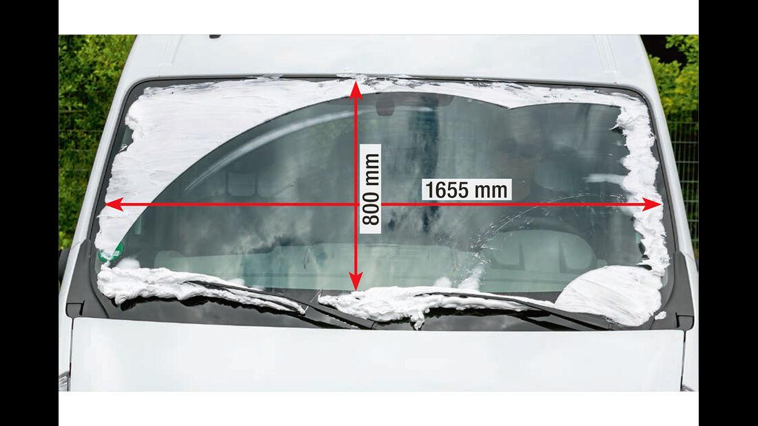 Megatest: Sichtverhältnisse, Renault-Frontscheibe