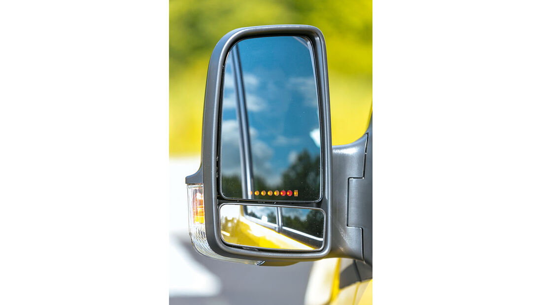 Megatest: Sichtverhältnisse, VW-Aussenspiegel