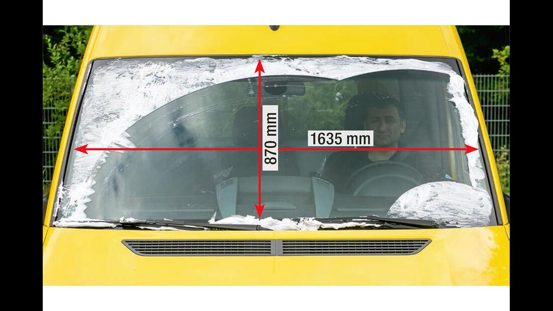 Megatest: Sichtverhältnisse, VW-Frontscheibe
