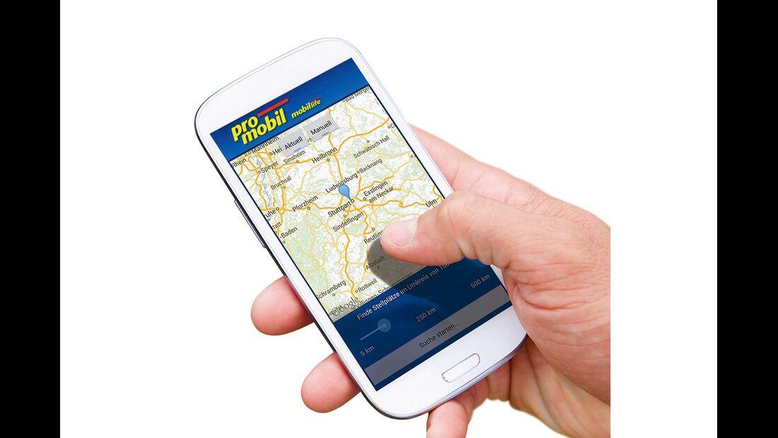 Mehr Stellplätze in ganz Europa in der promobil-Stellplatz-App mobil life.