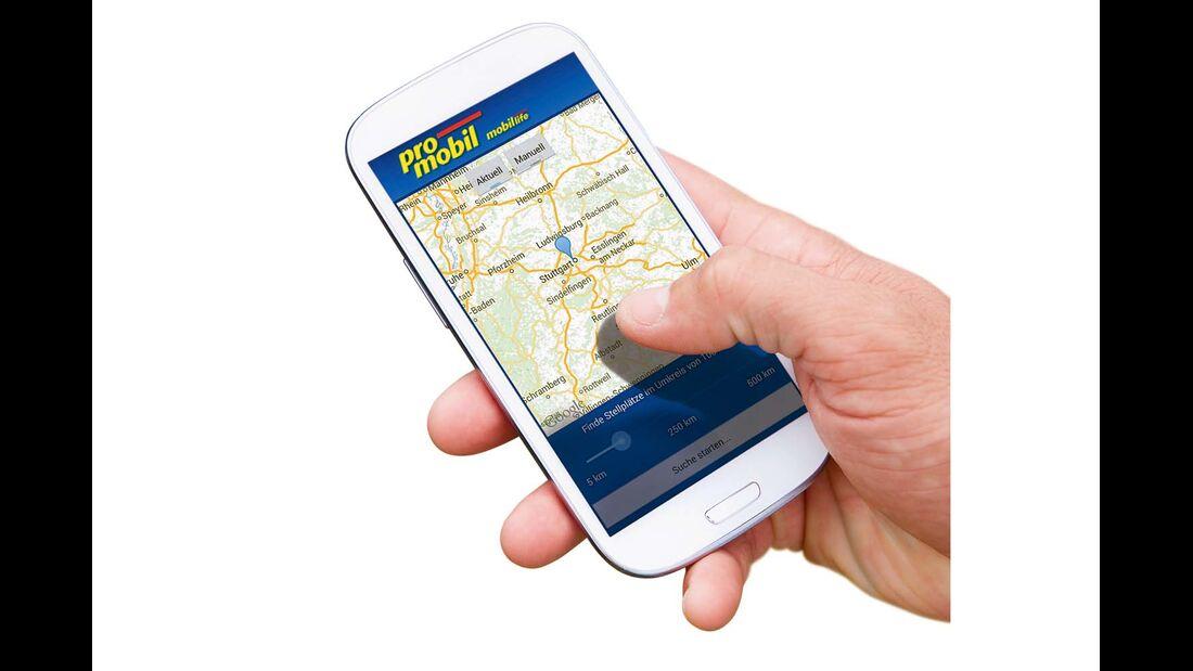 Mehr Stellplätze in ganz Europa in der promobil-Stellplatz-App mobil life für Apple & Android oder unter www.promobil.de