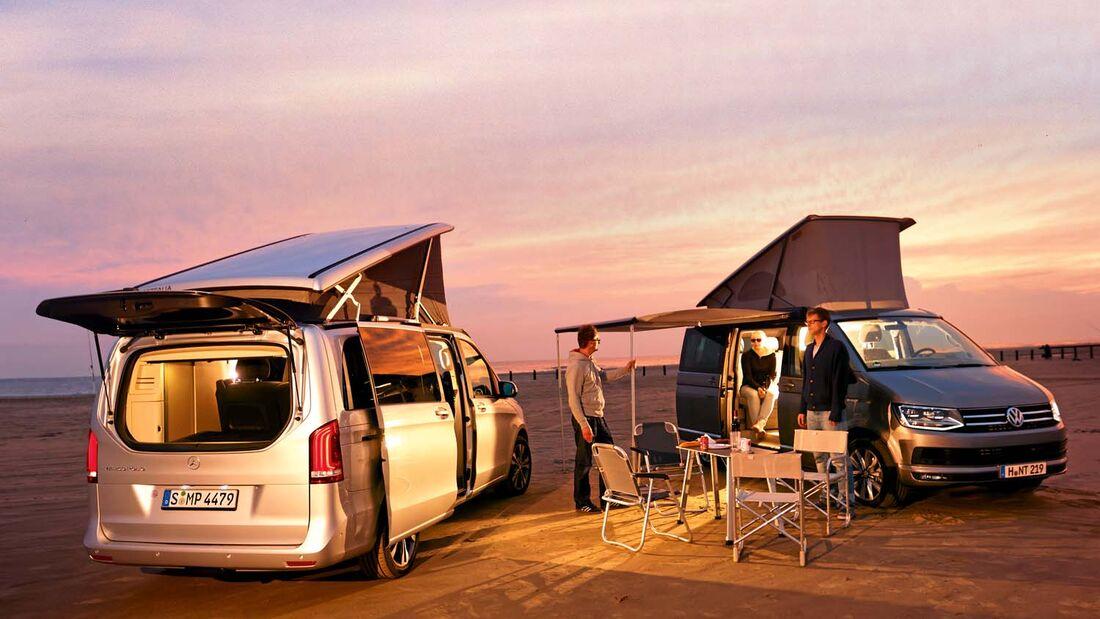 Mercedes Marco Polo und VW California Ocean