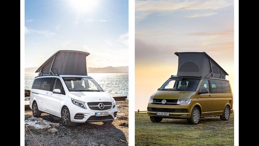 Mercedes Marco Polo vs. VW California