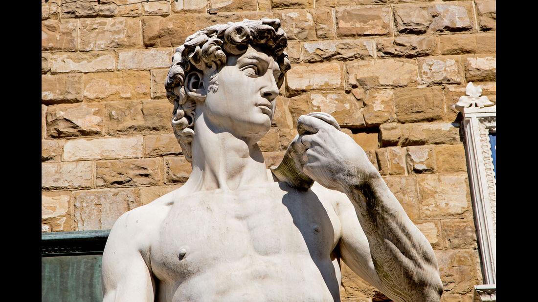 Michelangelos David-Skulptur.