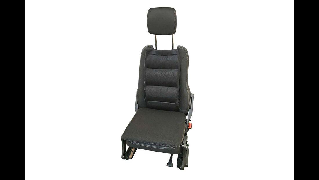 """Mit Lamellen-Federkern und atmungsaktivem Mesh-Gewebe erhöht das """"Rücken aktiv Polster"""" von Froli den Sitzkomfort."""