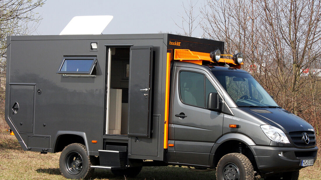 Mit dem Dakar 650 präsentiert Bocklet ein kompaktes Fernreise-taugliches Modell in der Klasse zwischen 3,5 und 7,5 Tonnen.