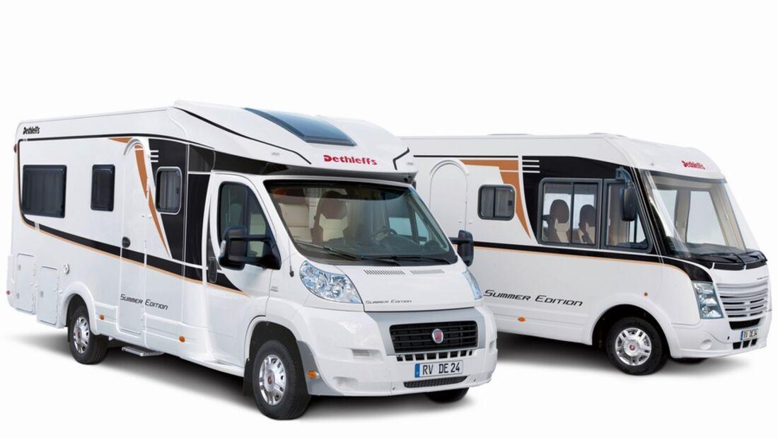 Mit den neuen Summer Edition T und I 6701 bringt Dethleffs bekannteReisemobil-Grundrisse im neuen Gewändern