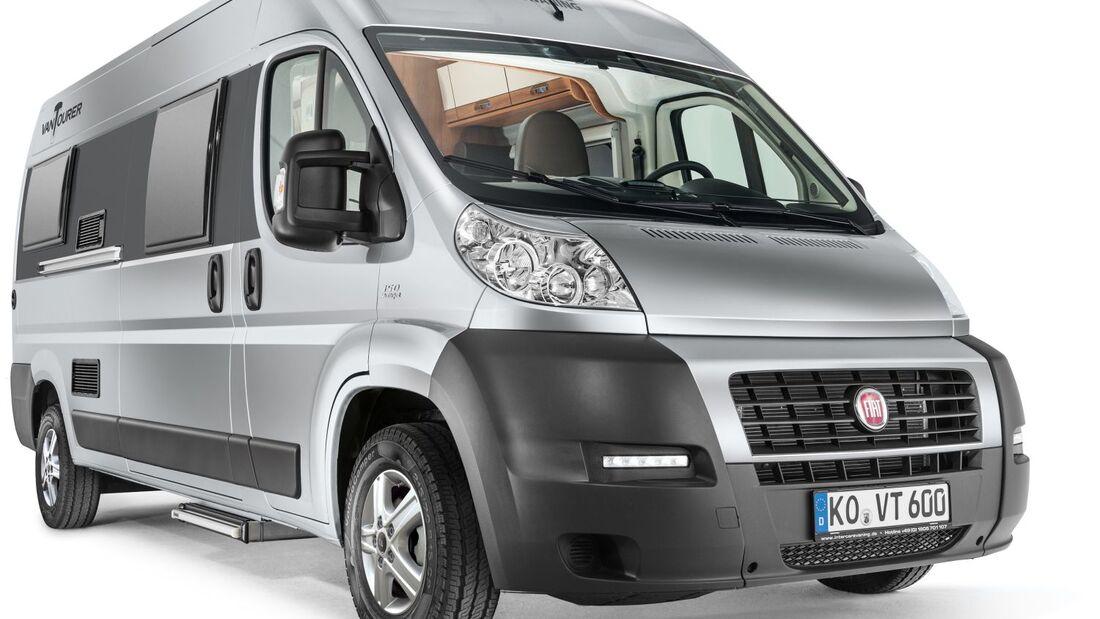 Mit der neuen Eigenmarke Eurocaravaning steigt Intercaravaning in den Wohnmobilmarkt ein: mit der Kastenwagenbaureihe Van Tourer.