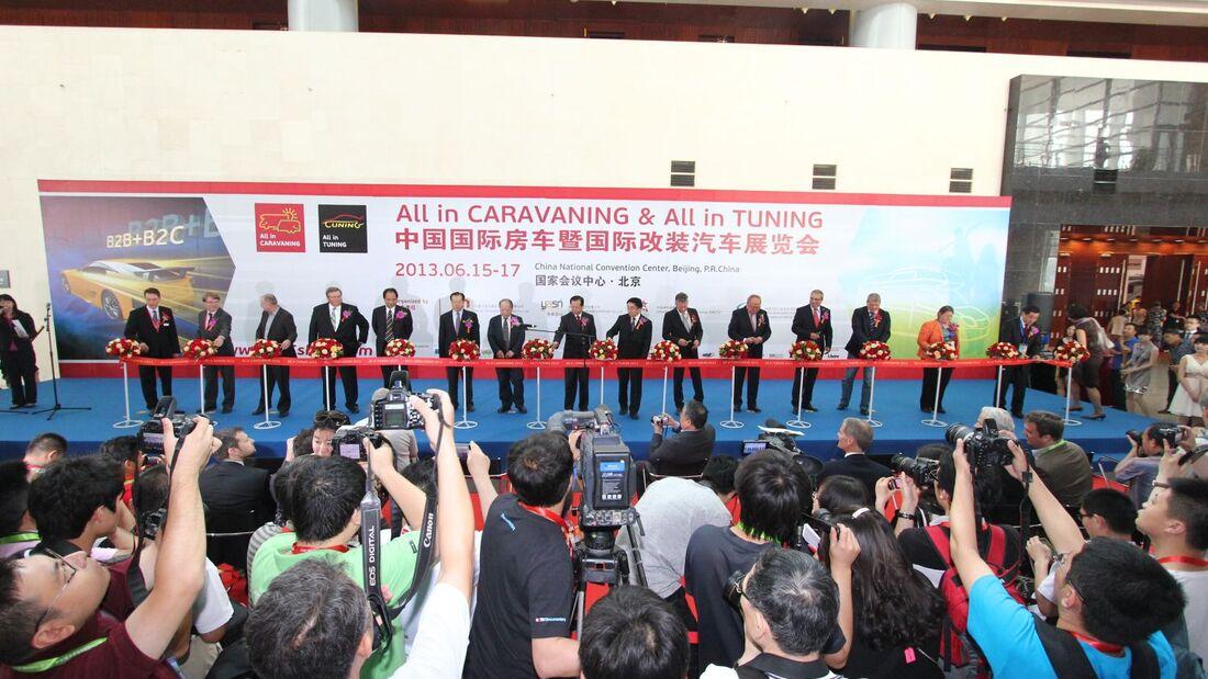 """Mit rund 99 Ausstellern startete die zweite Ausgabe der """"All in CARAVANING"""" Mitte Juni erstmals auf dem Messegelände in Peking."""