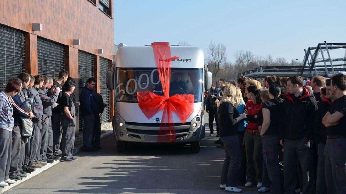 Mitte März fertigten die Mitarbeiter das 5.000ste Reisemobil. Erst vor knapp fünf Jahren hatte die Produktion in Slowenien begonnen.
