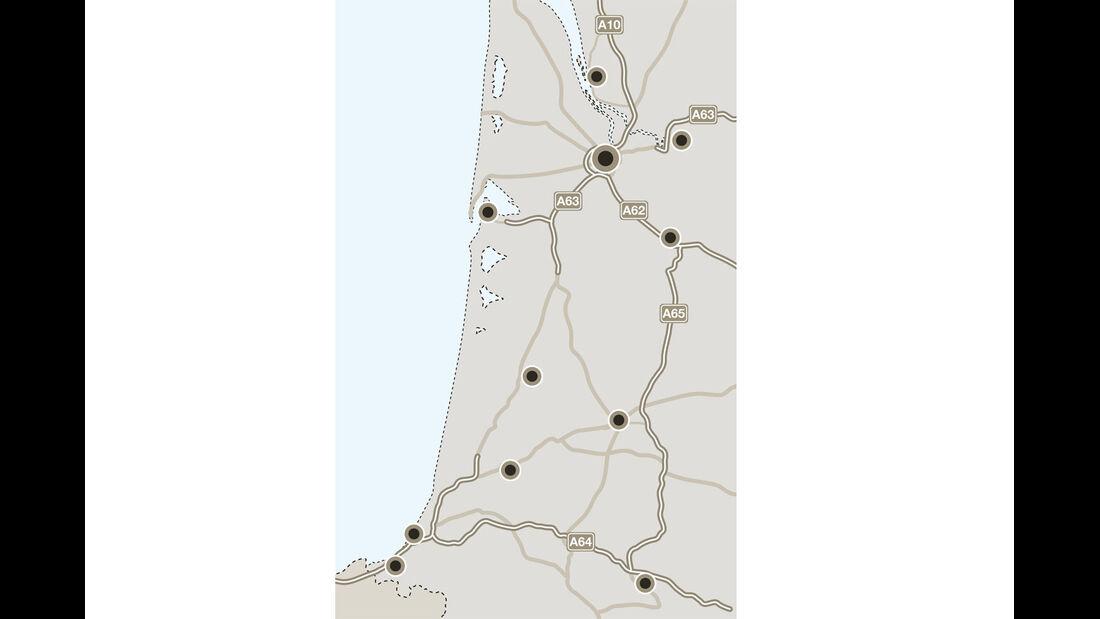 Mobil-Tour: Aquitanien