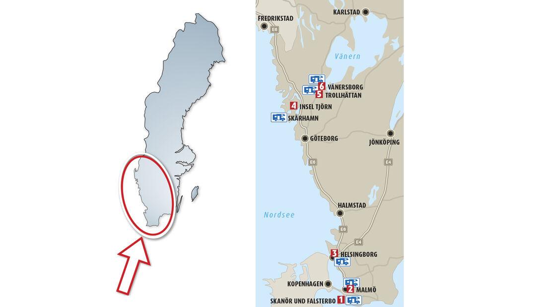 Mobil-Tour Schweden