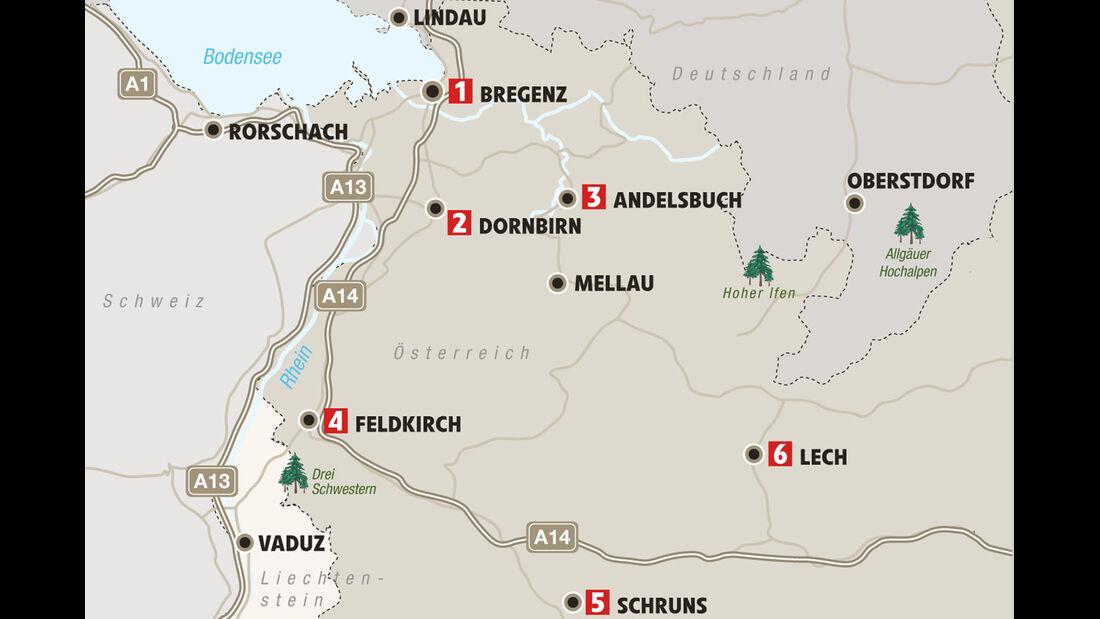 Mobil-Tour: Vorarlberg, Karte