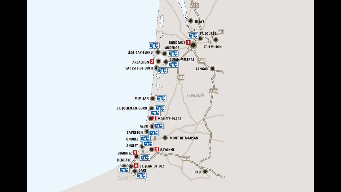 Mobil-Tour durch Aquitanien
