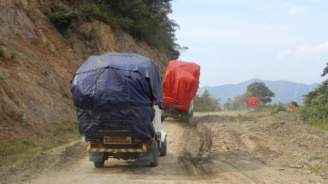 Mobile Menschen in Asien
