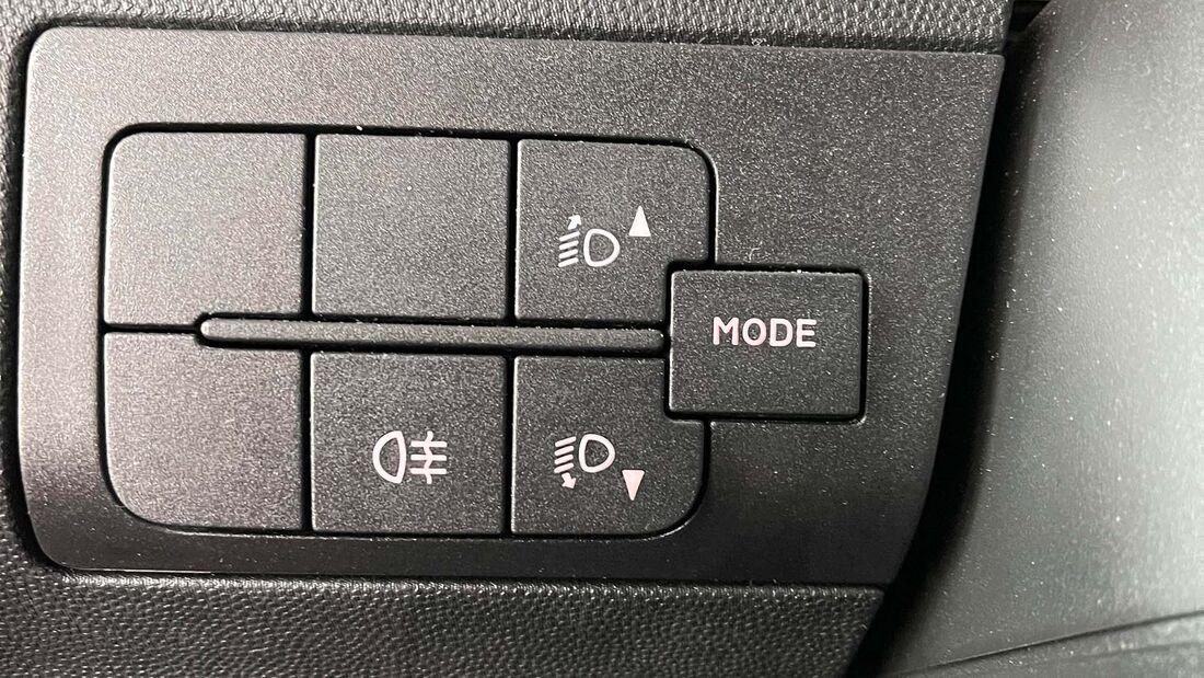 Mode-Knopf im Fiat Ducato