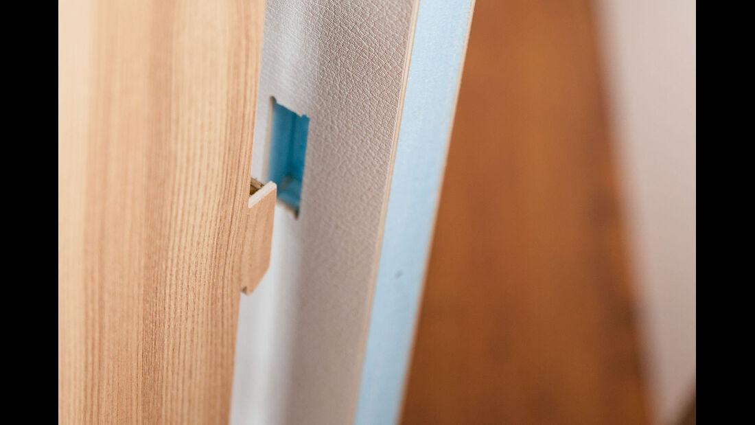Möbel und Wand beeinflussen Geräuschentwicklung.